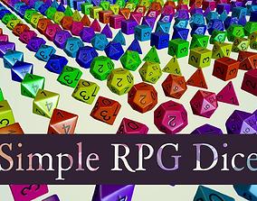 Simple RPG Dice 3D asset