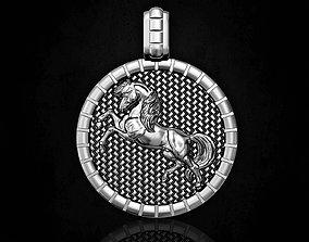 Pretty horse pendant 3D printable model