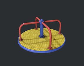 Playground Roundabout - Yellow 3D asset