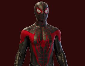 Spider-man Miles Morales PS5 Rigged 3D model