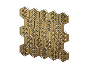 Beehive motif panel for 3dprinting and cnc
