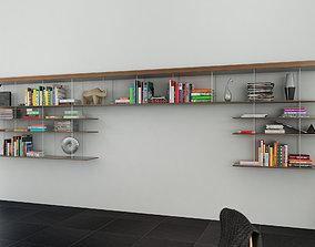 3D model Molteni Graduate 1 with books