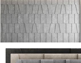 Decorative wall panel set 53 3D