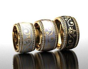 Ring with enamel 3D printable model