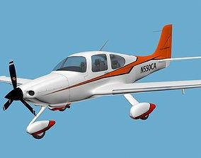 Cirrus Sr-22 airplane high detailed 3D