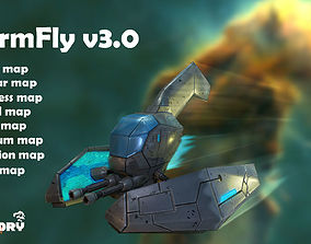 3D model Low Poly Game Ready SpaceShip - StormFly