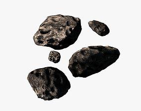 3D asset Asteroid pack