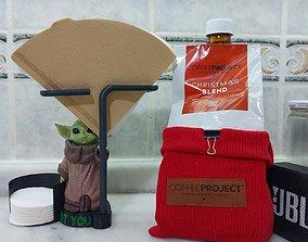 3D print model Baby Yoda V60 Filter Paper