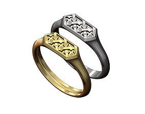 3D printable model Hexagonal Moucharabih motif signet