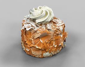 Chocolate Flakes Cake 3D asset