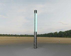 3D asset Galvanized Light-Column -23- Street-Light 9