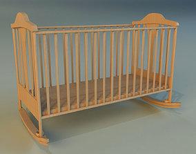 Cot baby bed 3D model