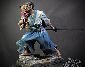 3D printable model Lone Wolf and Cub