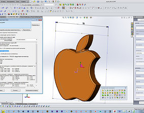 apple emblem iphone 3D print model