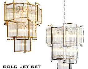3D Silver gold eichholtz chandelier