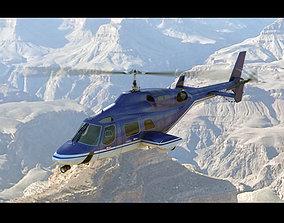 Bell 222 Blue 3D