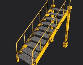 3D model VR / AR ready Industrial stairs