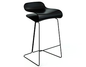 Chic Black Chair 3D