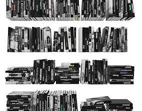 3D asset Books 150 pieces 3-6-1
