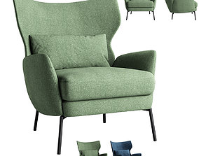 Alex Navy Crateandbarrel Armchair 3D model