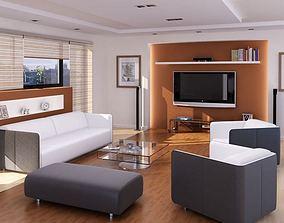 3D model living Modern Living Room