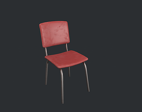 3D model Basic Red Chair