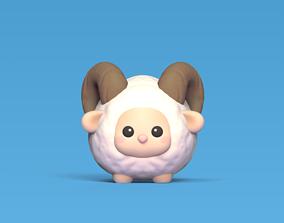 cute-ram Cute Ram 3D print model