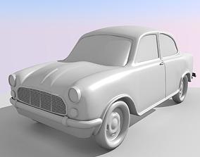low-poly 3D Lowpoly Ambassador Car 1999
