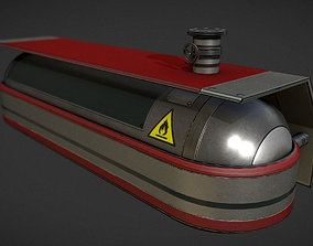 Fuel Tank Red Version 3D model animated