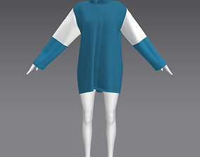 3D model Woman Clothing A-Pose 308