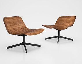 Nonesuch Modern Swivel Lounge Chair bu Blu 3D