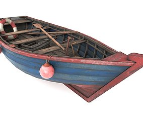 3D model PBR Old Fishing Boat