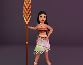 3D model Game Ready Girl Character