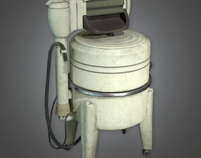 3D model ATT - Old Washing Machine Antiques - PBR Game