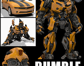 animated Bumblebee Forever - 3d animated model