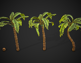 3D model Stylized Palm Tree