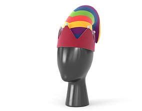 Clown Hat 04 3D asset