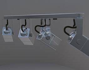 Chrome Spot Lamp 3D