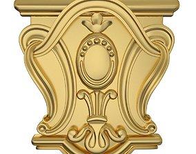 3D Capital ornament