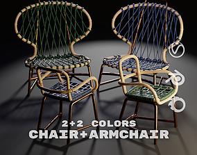 3D model Baxter Manila Armchair and Chair