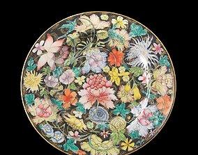 3D asset Chinese Guangxu Millefleur Plate