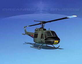 3D model Bell UH-1B Iroquois S Korean Army