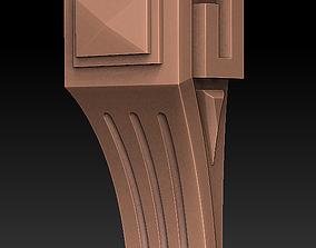 3D print model decorative bracket cutting