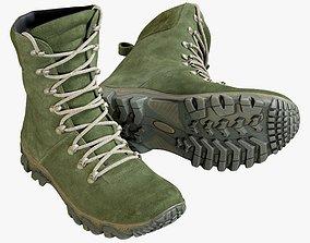 3D asset Boots Military Green