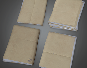 3D model Folder Stack 01 - CLA - PBR Game Ready