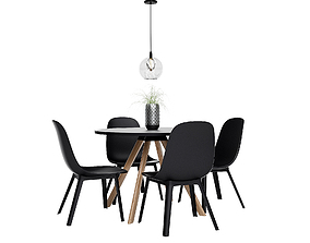 3D Dining Furnitures Set 48