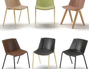 MDF Italia Aiku Soft Chairs 3D model