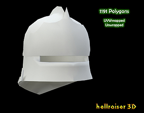 3D Medieval Knight Armet Helmet 2 | CGTrader