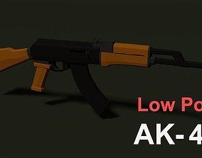 Low Poly AK-47 3D asset VR / AR ready