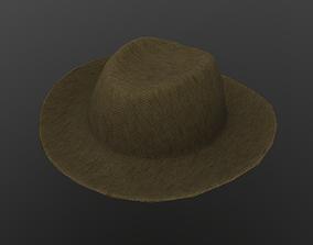 3D model Felt Brown Hat